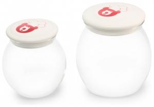Iaurtiera-fermentator Oursson FE0205D/GA, 2 vase de sticla, 1L si 2L, Afisaj LED,  Verde1