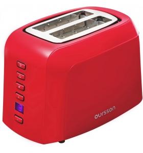Prajitor de paine Oursson TO2145D/RD, panou de control digital, 800 W, Rosu0