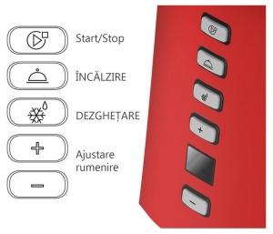 Prajitor de paine Oursson TO2145D/RD, panou de control digital, 800 W, Rosu3