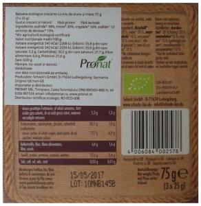 Batoane Bio crocante cu mix de alune si miere 3x25 g [1]