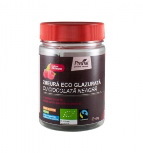 Zmeura glazurata cu ciocolata neagra, 100 gr0