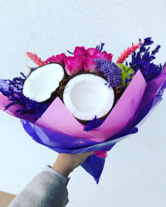 Buchet handmade. Buchet lux cu nuca de cocos [1]