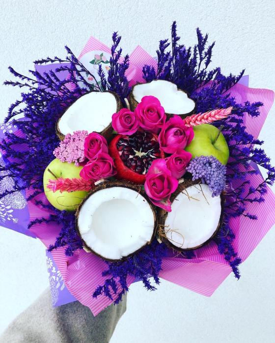 Buchet handmade. Buchet lux cu nuca de cocos [2]