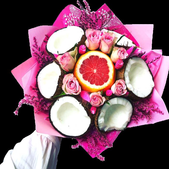 Buchet cu nuca de cocos si trandafiri [0]