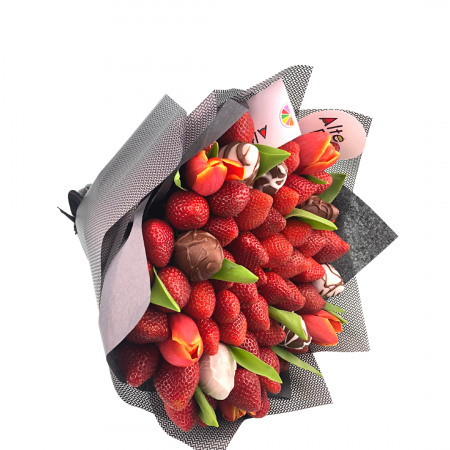 Buchet de flori cu capsuni [4]