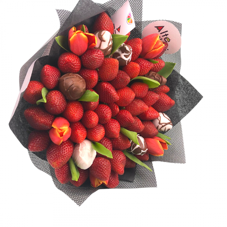 Buchet de flori cu capsuni [5]
