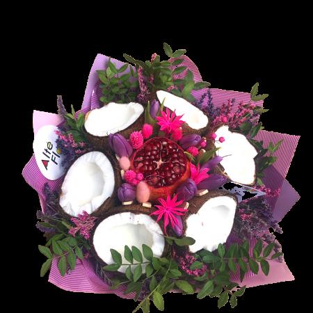 Buchet cu nuca de cocos si trandafiri [1]