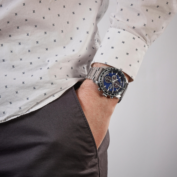 Ceas bărbătesc cu baterie solară, cronograf și dată Seiko Solar  SSC719P1 1