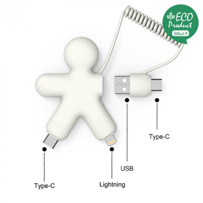 Cablu micro USB tip C - OCTOPUS Bio Xoopar [0]
