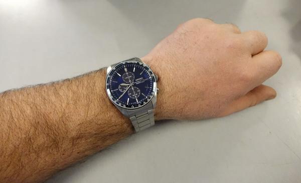 Ceas bărbătesc cu baterie solară, cronograf și dată Seiko Solar  SSC719P1 7