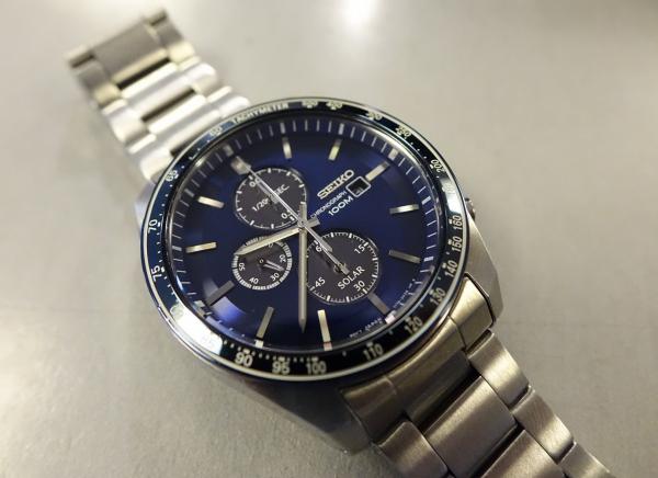 Ceas bărbătesc cu baterie solară, cronograf și dată Seiko Solar  SSC719P1 2