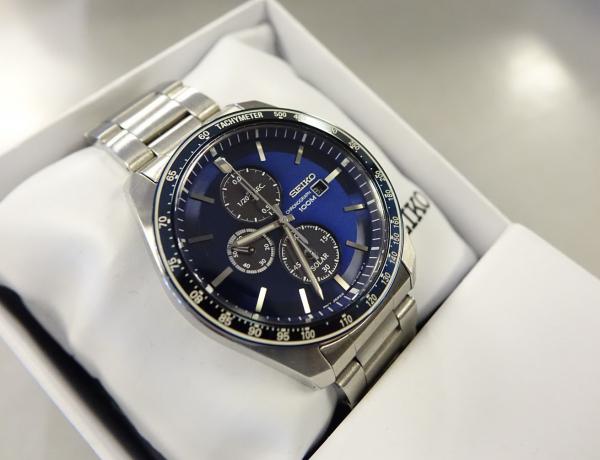 Ceas bărbătesc cu baterie solară, cronograf și dată Seiko Solar  SSC719P1 3