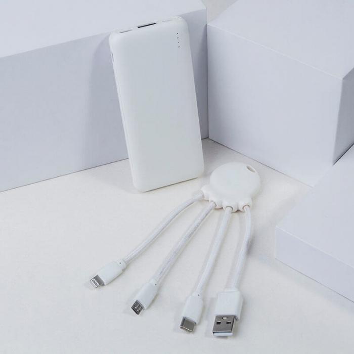 Baterie externă de 7.000 mAh + Cablu de incarcare micro tip C OCTOPUS Bio Xoopar [3]