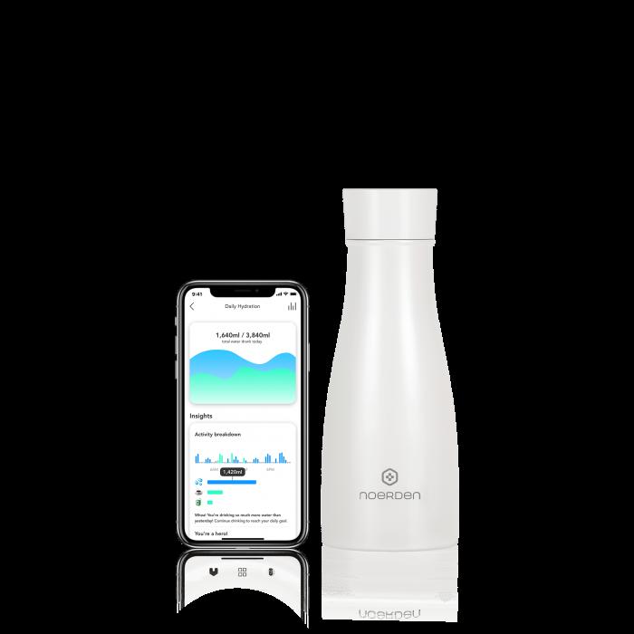 Sticlă pentru apă  reutilizabilă Noerden LIZ Smart Antibacteriană cu sterilizare UV 350ml [0]