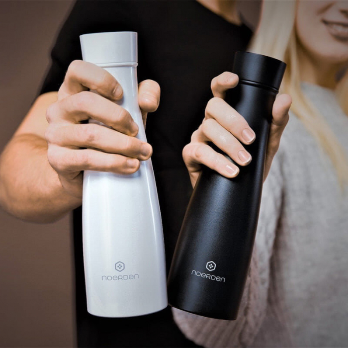 Sticlă pentru apă  reutilizabilă Noerden LIZ Smart Antibacteriană cu sterilizare UV 480ml [8]