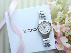 Ceas de dama Seiko Chronograph SNDV56P11