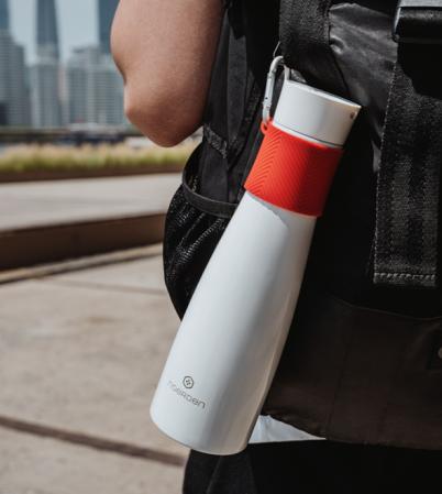 Sticlă pentru apă  reutilizabilă Noerden LIZ Smart Antibacteriană cu sterilizare UV 480ml [7]