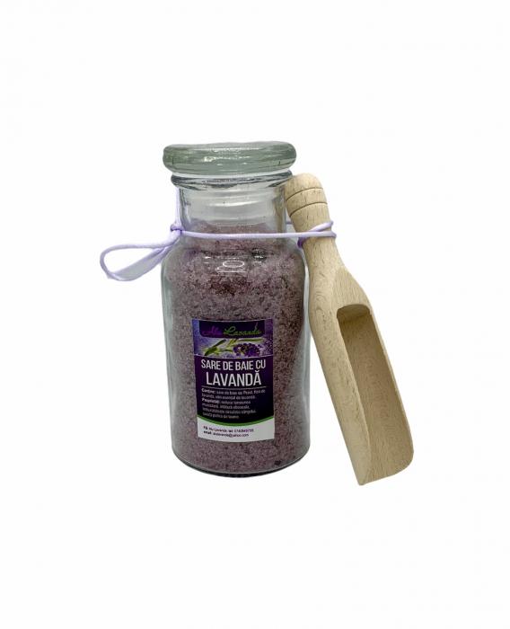 Sare de baie din Praid cu ulei esențial de lavandă. 0