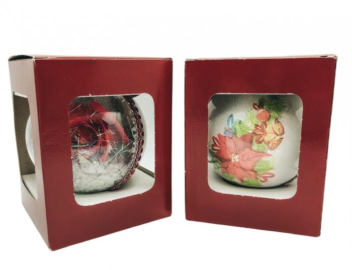 Glob handmade cu trandafir - rosu 1