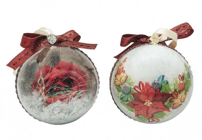 Glob handmade cu trandafir - rosu 0
