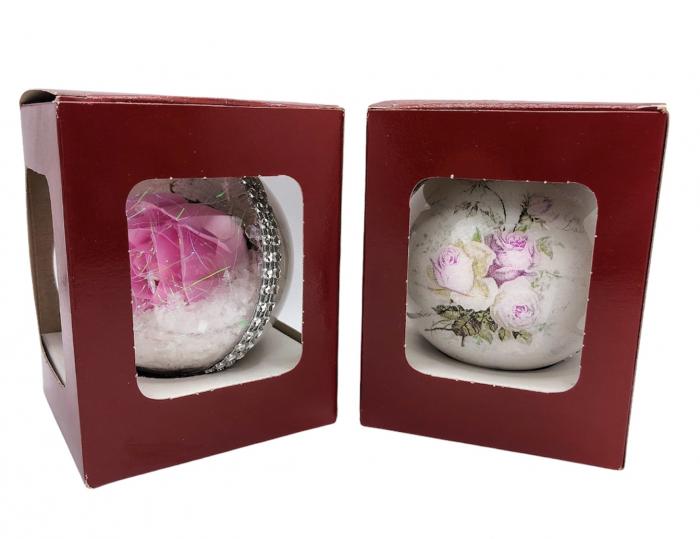 Glob handmade cu trandafir - roz 1