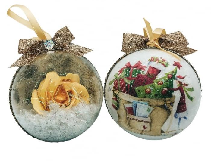 Glob handmade cu trandafir - galben 0