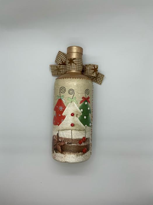 Sticlă decorată manual - Christmas Trees 5