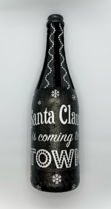 Sticlă decorată manual - Santa is coming 1