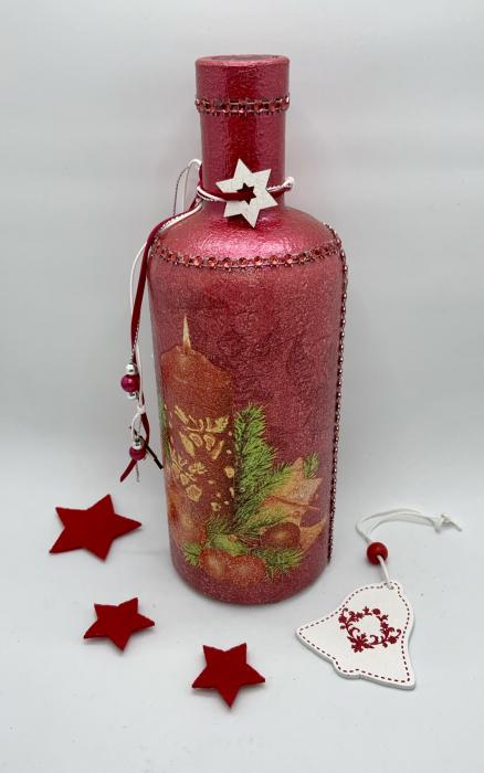 Sticlă decorată manual - Red [6]