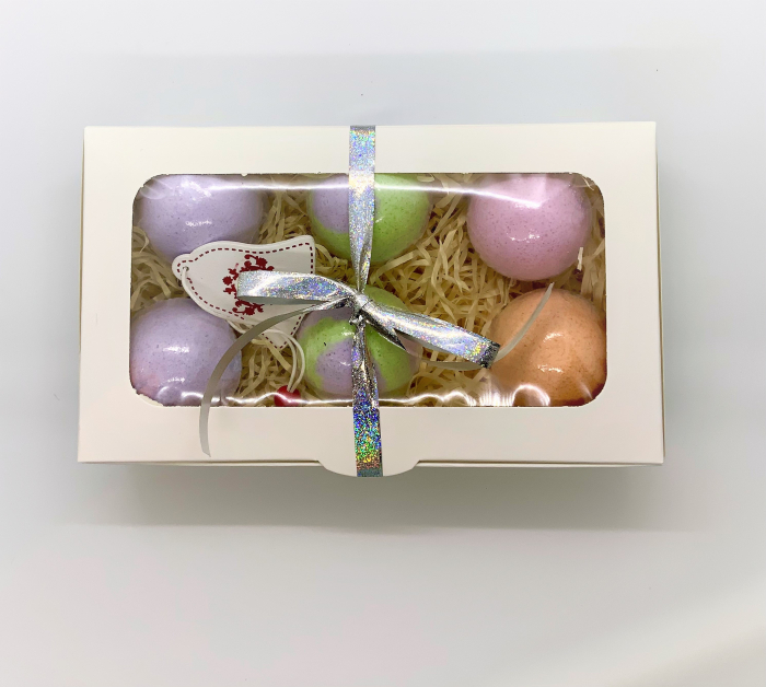 Set LAVENDER BATH BOMBS 4