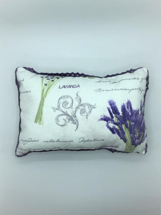 Pernă cu floare de lavandă, hipoalergenică, handmade 2