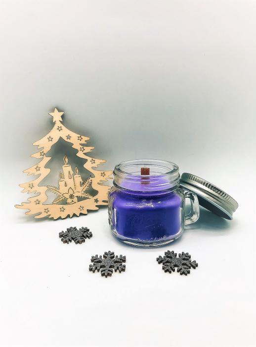 Lumânare naturală din ceară de soia cu ulei esențial de lavandă 2