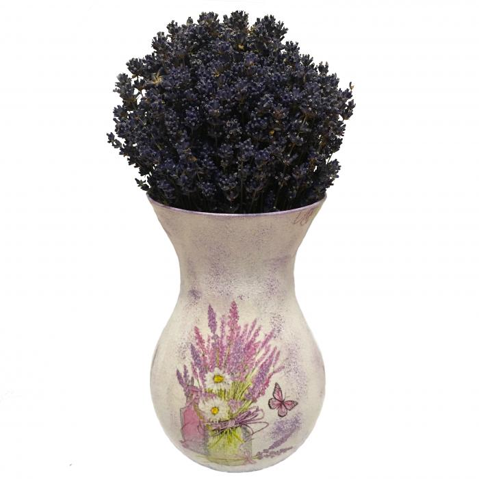 Aranjament cu lavandă naturală în vază handmade 0