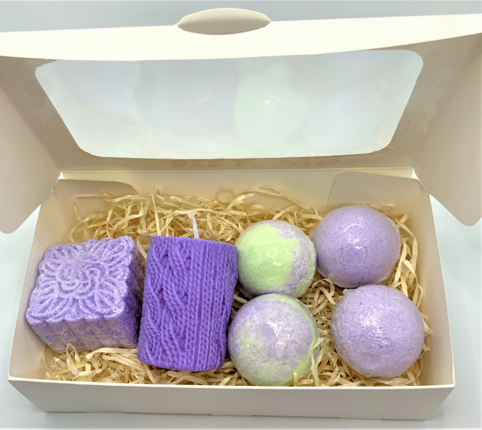Set cadou LAVENDER RELAXING BATH 3