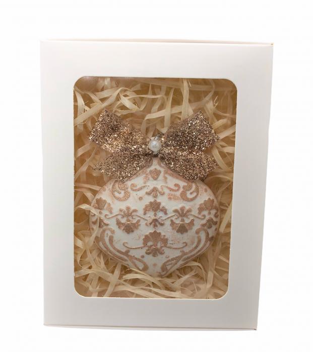 Decorațiune ceramică parfumată handmade - auriu 1