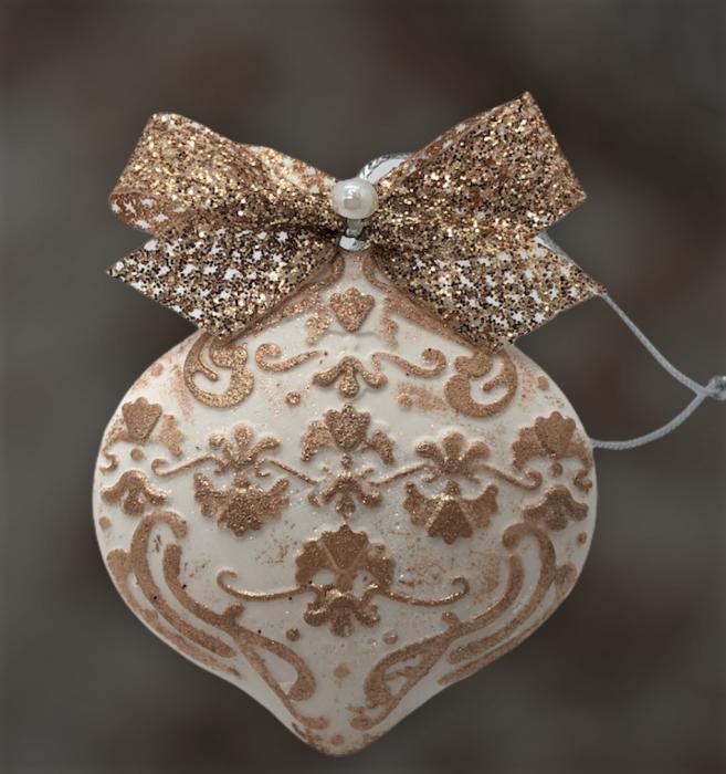 Decorațiune ceramică parfumată handmade - auriu 3