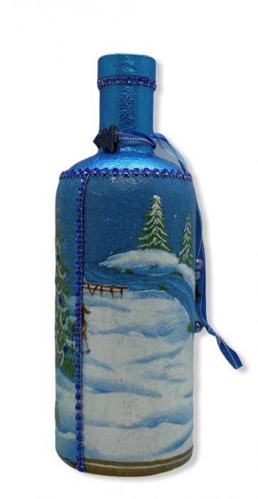 Sticlă decorată manual - Blue 1