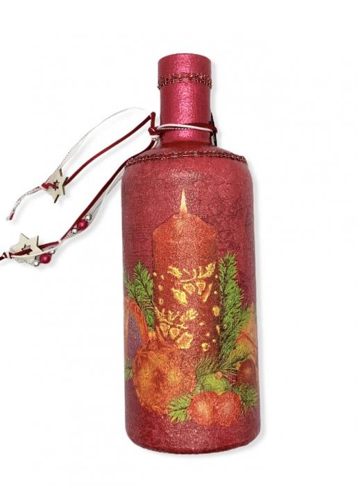Sticlă decorată manual - Red [0]
