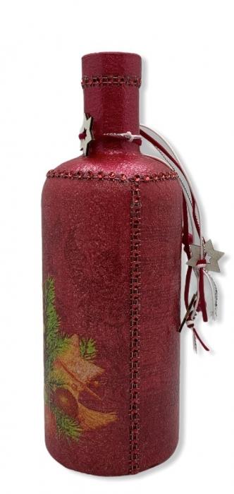 Sticlă decorată manual - Red [1]