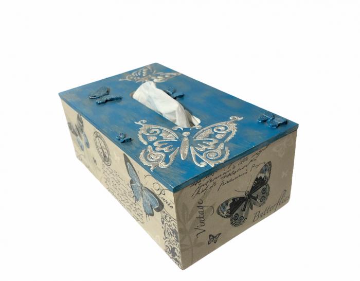 Cutie pentru șervețele - temă Fluturi 2