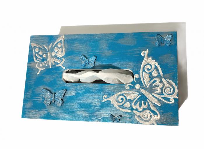 Cutie pentru șervețele - temă Fluturi 1