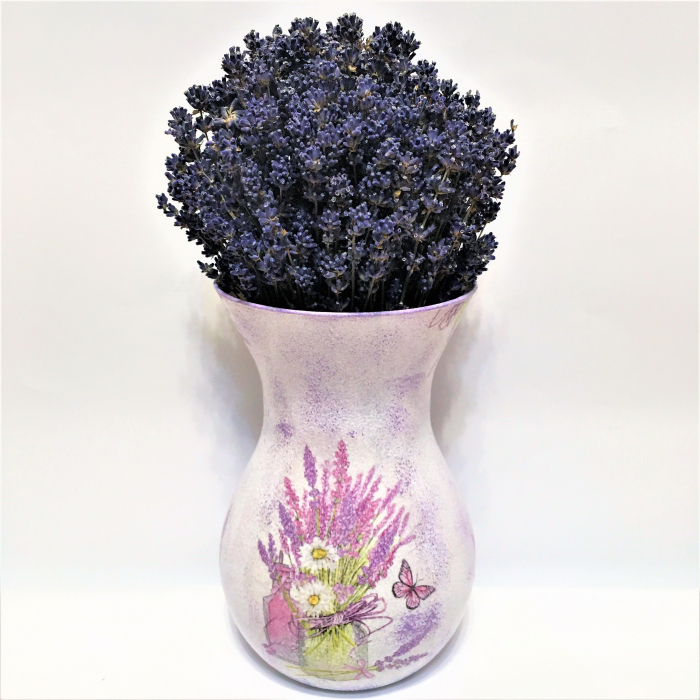 Aranjament cu lavandă naturală în vază handmade 2