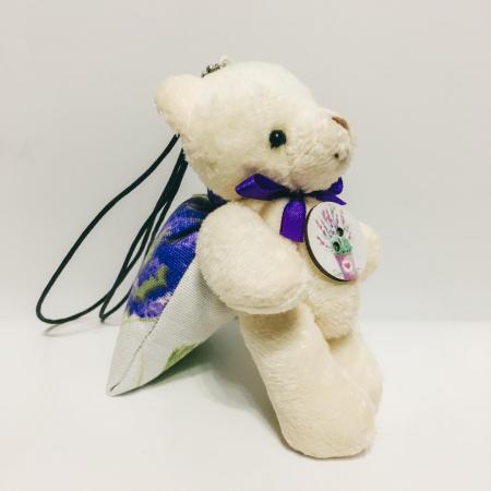 Breloc ursuleț cu săculeț flori lavandă [3]