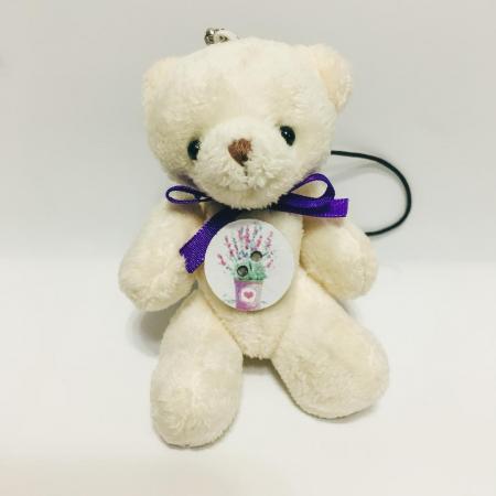 Breloc ursuleț cu săculeț flori lavandă [1]