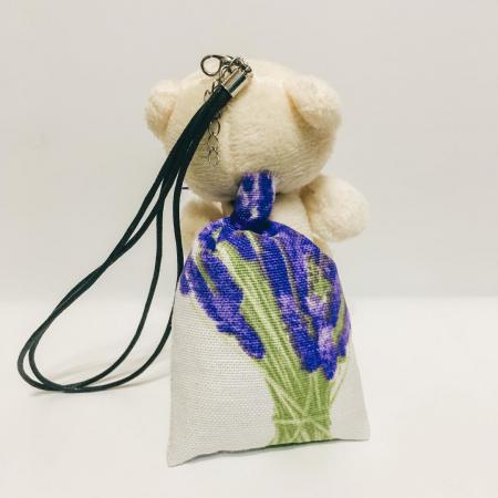 Breloc ursuleț cu săculeț flori lavandă [2]