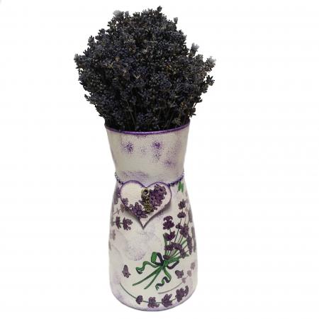 Aranjament cu lavandă naturală în vază handmade0
