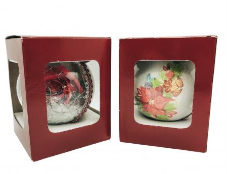 Glob handmade cu trandafir - rosu1