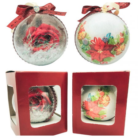 Glob handmade cu trandafir - rosu2