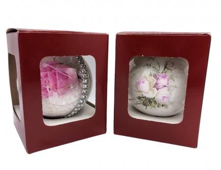 Glob handmade cu trandafir - roz1