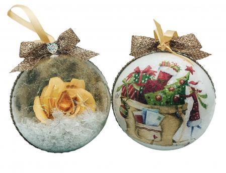 Glob handmade cu trandafir - galben0